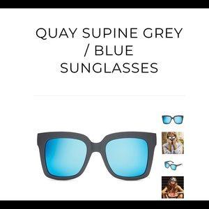 Quay Grey/Blue Sunglasses brand new.
